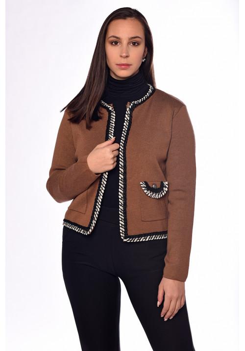 Kötött kabátka barna