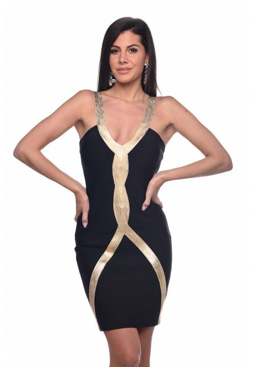 Twisted bandage dress